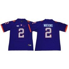 Men Clemson Tigers 2 Watkins Purple Nike Limited Stitched NCAA Jersey