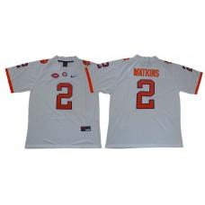 Men Clemson Tigers 2 Watkins White Nike Limited Stitched NCAA Jersey
