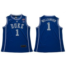 Men Duke Blue Devils 1 Williamson Blue Nike NCAA Jerseys