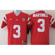 Men Nebraska Huskers 3 Martinez Red NCAA jerseys