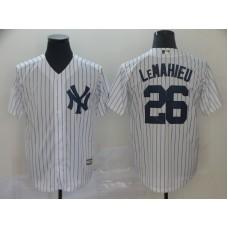 Men New York Yankees 26 Lemahieu White Game MLB Jerseys