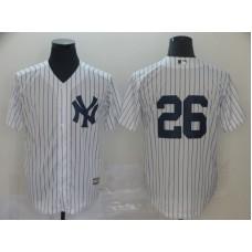 Men New York Yankees 26 Lemahieu White Game MLB Jerseys1