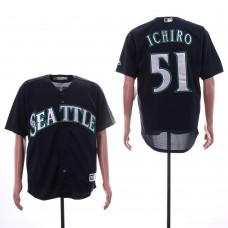 Men Seattle Mariners 51 Ichiro Black Game MLB Jerseys