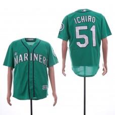 Men Seattle Mariners 51 Ichiro Green Game MLB Jersey