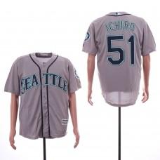 Men Seattle Mariners 51 Ichiro Grey Game MLB Jersey