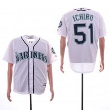 Men Seattle Mariners 51 Ichiro White Game MLB Jersey