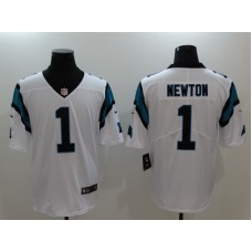 Mens Nike Carolina Panthers 1 Cam Newton White Vapor Untouchable Limited Stitched NFL Jersey