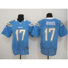 Los Angeles Chargers 17 Rivers Light Blue Nike Elite Jersey