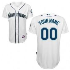 MLB Customize Seattle Mariners White Jerseys