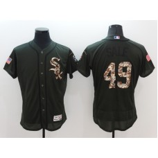 2016 MLB Chicago White Sox 49 Sale Green Salute to Service Stitched Baseball Jersey