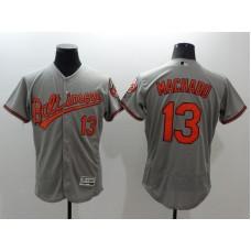 2016 MLB FLEXBASE Baltimore Orioles 13 Machado grey jerseys