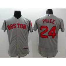 2016 MLB FLEXBASE Boston Red Sox 24 Price grey jerseys