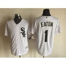 2016 MLB FLEXBASE Chicago White Sox 1 Eaton white jerseys