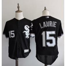 2016 MLB FLEXBASE Chicago White Sox 15 Lawrie Black Elite Jerseys