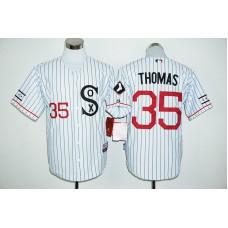 2016 MLB FLEXBASE Chicago White Sox 35 Thomas white jersey
