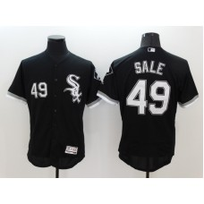2016 MLB FLEXBASE Chicago White Sox 49 Chris Sale Black Jerseys