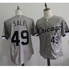 2016 MLB FLEXBASE Chicago White Sox 49 Chris Sale Grey Elite Jerseys