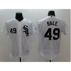 2016 MLB FLEXBASE Chicago White Sox 49 Chris Sale White Jerseys