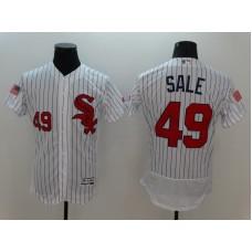 2016 MLB FLEXBASE Chicago White Sox 49 Sale White Fashion Jerseys