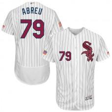 2016 MLB FLEXBASE Chicago White Sox 79 Abreu White Fashion Jerseys