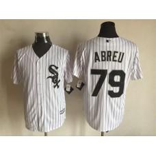 2016 MLB FLEXBASE Chicago White Sox 79 Abreu white jerseys