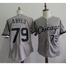 2016 MLB FLEXBASE Chicago White Sox 79 Jose Abreu Grey Elite Jerseys