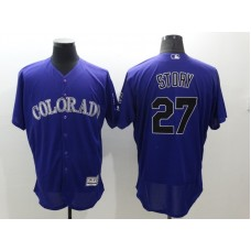 2016 MLB FLEXBASE Colorado Rockies 27 Story Purple Jersey
