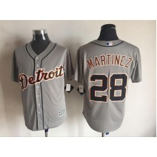 2016 MLB FLEXBASE Detroit Tigers 28 Martinez grey jerseys