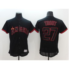 2016 MLB FLEXBASE Los Angeles Angels 27 Trout black Jerseys