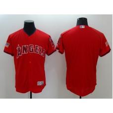 2016 MLB FLEXBASE Los Angeles Angels Blank Red Fashion Jerseys