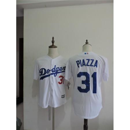 2016 MLB FLEXBASE Los Angeles Dodgers 31 Piazza White Throwback Jerseys