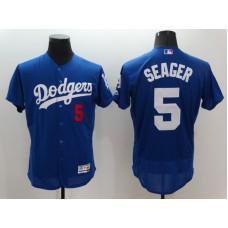 2016 MLB FLEXBASE Los Angeles Dodgers 5 Seager Blue Jerseys