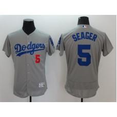 2016 MLB FLEXBASE Los Angeles Dodgers 5 Seager Grey Jerseys