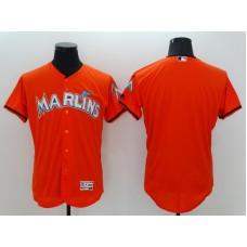 2016 MLB FLEXBASE Miami Marlins Blank Orange Jerseys