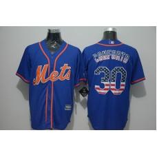2016 MLB FLEXBASE New York Mets 30 Conforto blue jersey