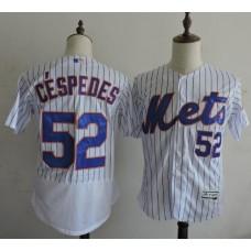 2016 MLB FLEXBASE New York Mets 52 Cespedes White Elite Jerseys