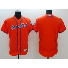 2016 MLB FLEXBASE New York Mets Blank Orange Jerseys