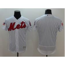 2016 MLB FLEXBASE New York Mets Blank White Fashion Jerseys
