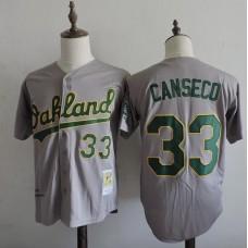 2016 MLB FLEXBASE Oakland Athletics 33 Canseco Grey Jerseys