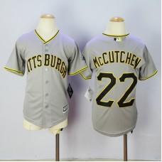 2016 MLB FLEXBASE Pittsburgh Pirates 22 McCutchen grey Kids jersey