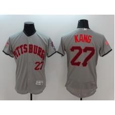 2016 MLB FLEXBASE Pittsburgh Pirates 27 Kang Grey Fashion Jerseys