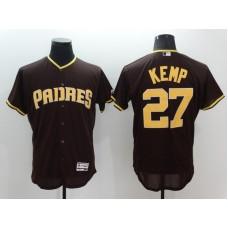 2016 MLB FLEXBASE San Diego Padres 27 matt kemp brown Jerseys