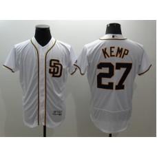 2016 MLB FLEXBASE San Francisco Giants 27 Kemp White Jersey