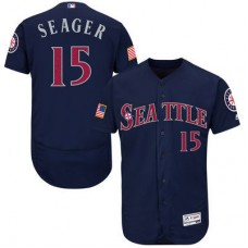 2016 MLB FLEXBASE Seattle Mariners 15 Seager Blue Fashion Jerseys