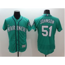 2016 MLB FLEXBASE Seattle Mariners 51 Johnson Green Jersey