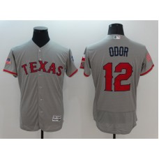 2016 MLB FLEXBASE Texas Rangers 12 Odor Grey Fashion Jerseys