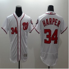 2016 MLB FLEXBASE Washington Nationals 34 Harper White Elite Jerseys