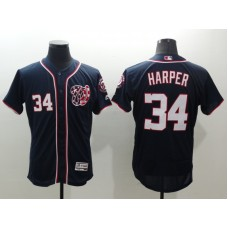 2016 MLB FLEXBASE Washington Nationals 34 Harper blue jerseys