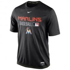 2016 MLB Miami Marlins Nike Legend Team Issue Performance T-Shirt - Black
