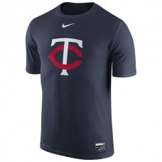 2016 MLB Minnesota Twins Nike Authentic Collection Legend Logo 1.5 Performance T-Shirt - Navy